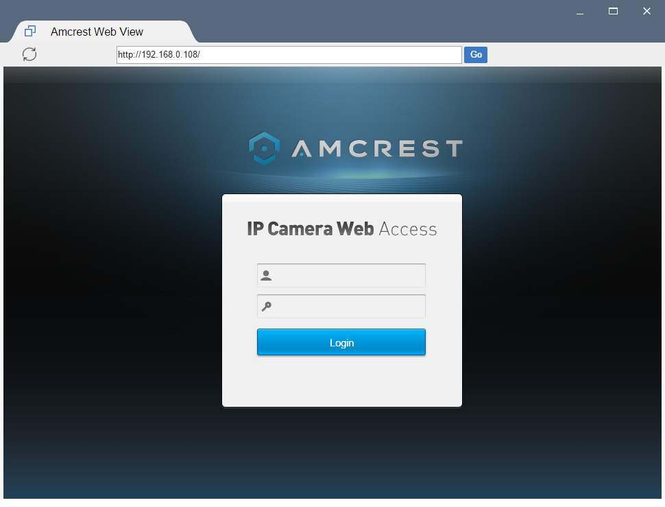 How To Access The Web UI Using Google Chrome – Amcrest