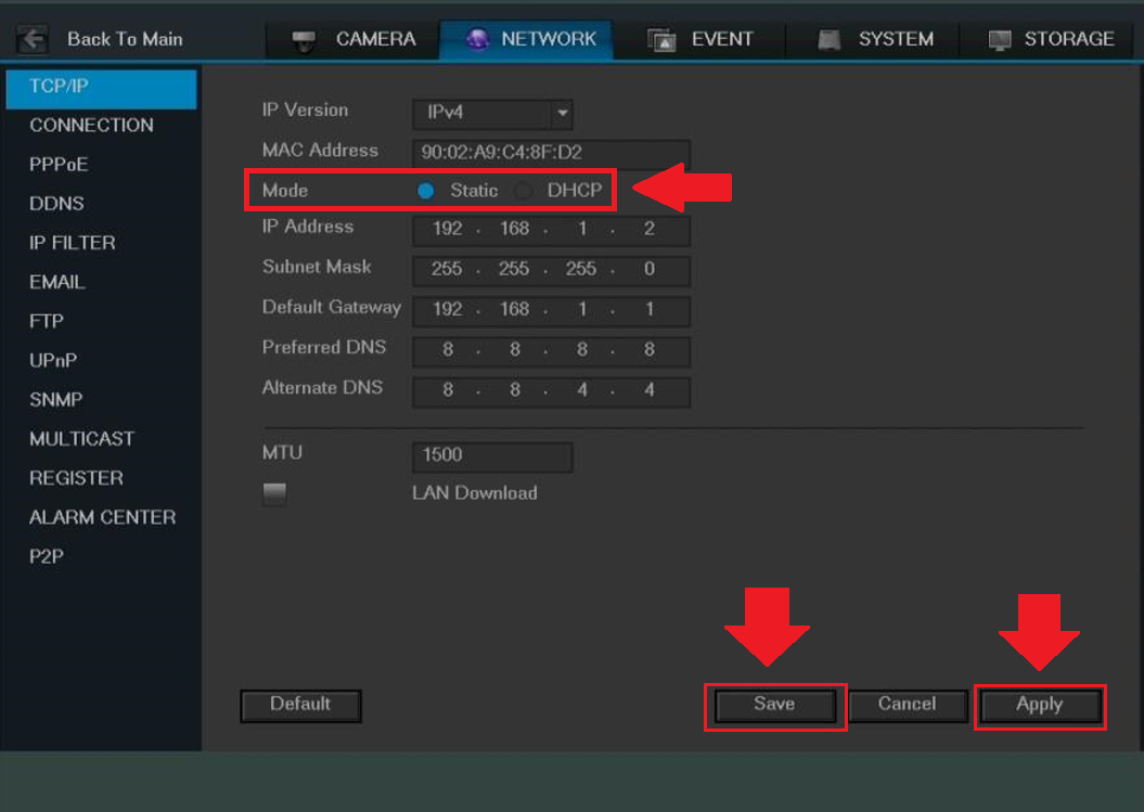 How To Set Your Device To a Static IP – Amcrest