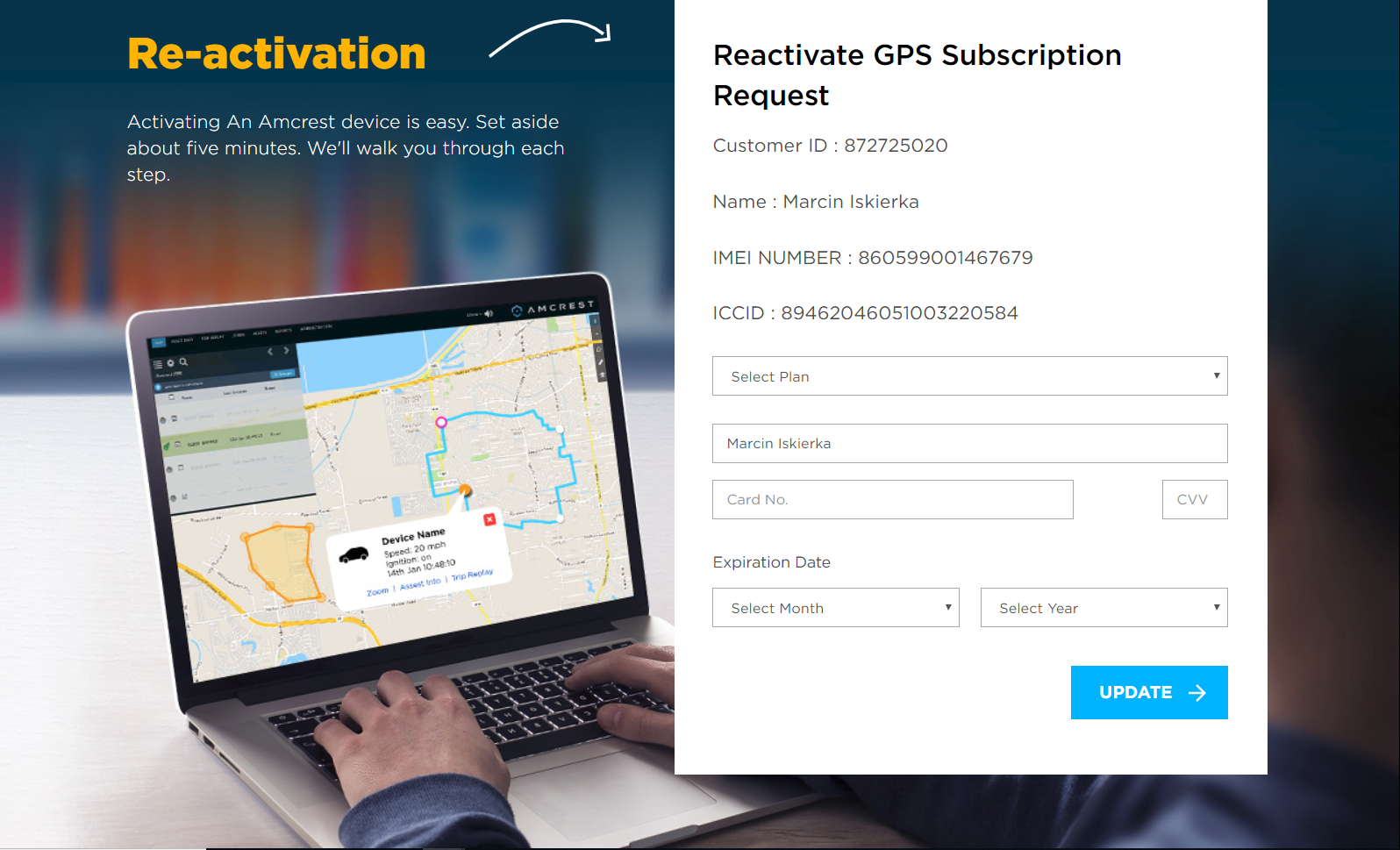 How To Reactivate Your GPS – Amcrest