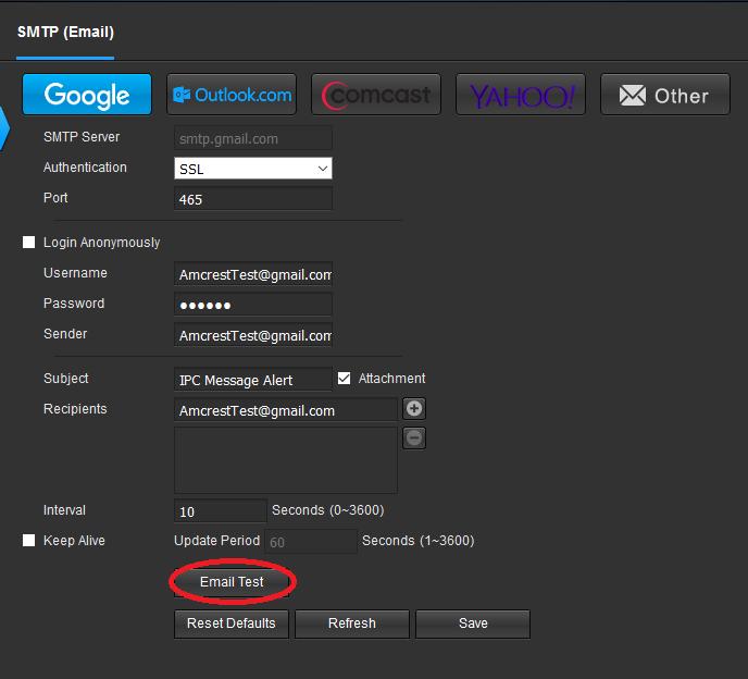 How To Setup Email Alerts Amcrest