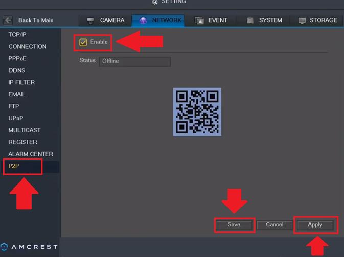 How To Verify P2P Status – Amcrest