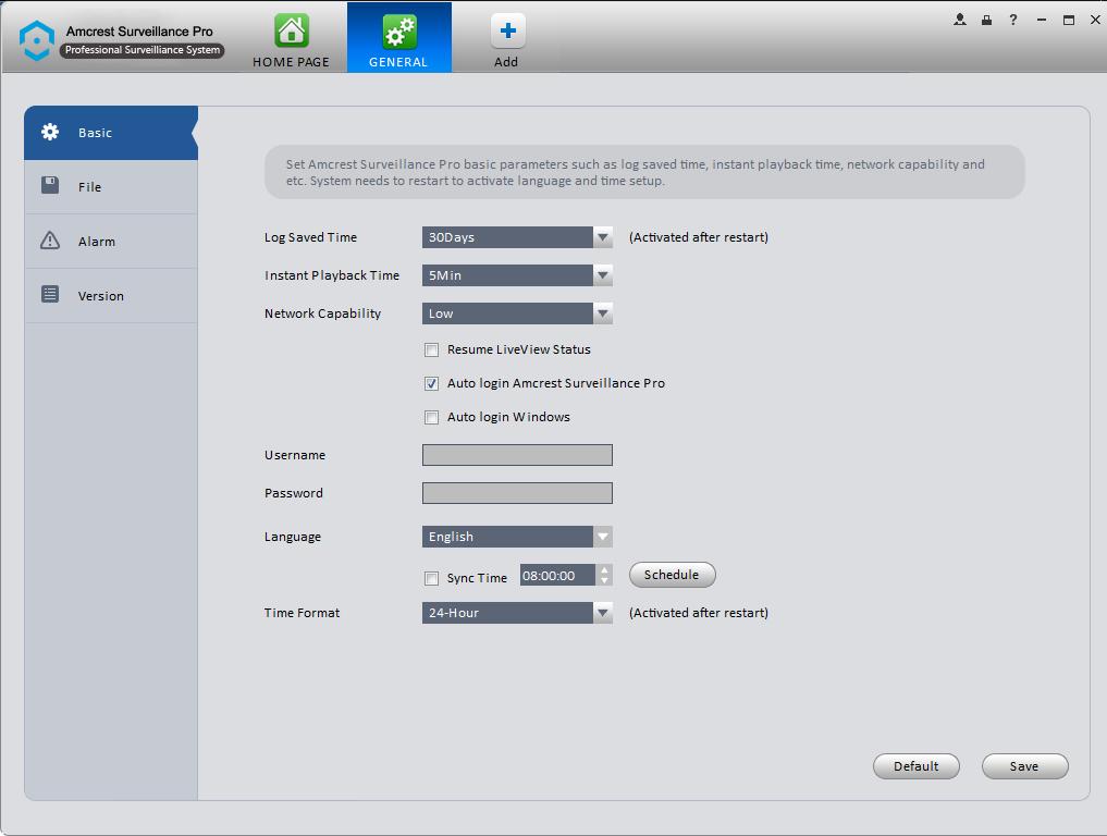Amcrest Surveillance Pro - Home Page Overview – Amcrest