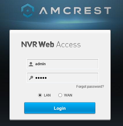 How To Access the Web UI Using a NVR – Amcrest