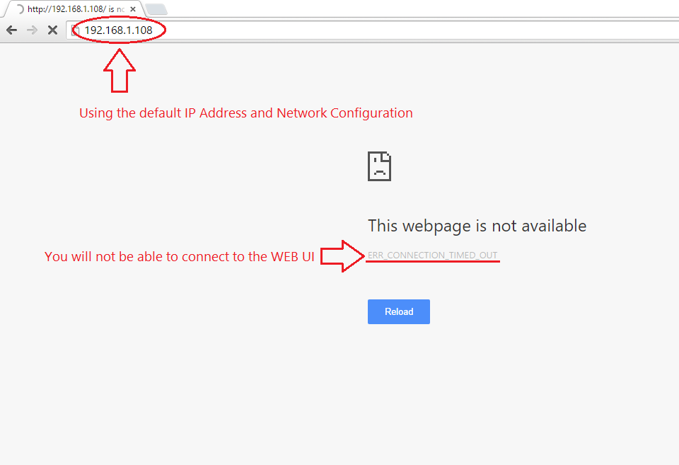 Accessing the Web User Interface on the DVR without a Router